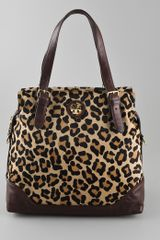 Tory Burch City Haircalf Zip Tote - Lyst