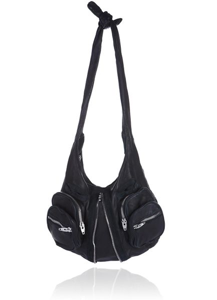 Alexander Wang Donna Hobo with Nickel Hardware in Black - Lyst