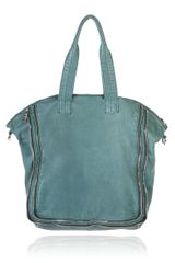 Alexander Wang Trudy Tote with Nickel Hardware in Blue (emerald) - Lyst