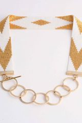 Anabel Campbell Navajo Choker  White Pearl/gold in Orange (white) - Lyst