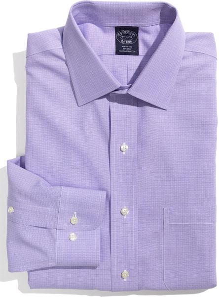 Brooks brothers non iron dress shirt in purple for men Light purple dress shirt men