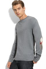Burberry Brit Trim Fit Elbow Patch T-shirt - Lyst