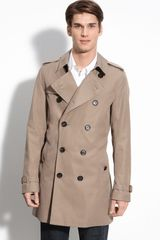 Burberry Trim Fit Trench Coat - Lyst
