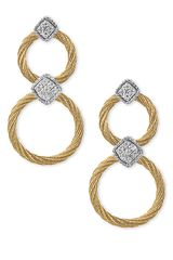 Charriol Classique Diamond Circle Earrings - Lyst