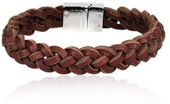 Chic Jewel Couture El- Brown Men´s Leather Bracelet - Lyst