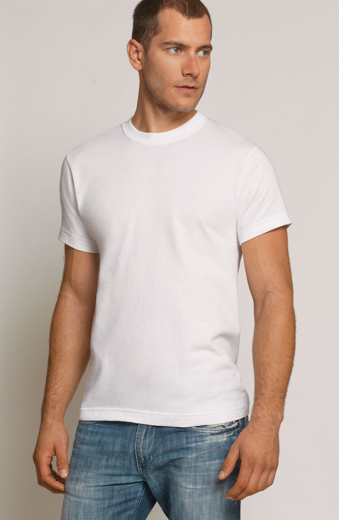 Coopers by jockey crewneck t shirt in white for men lyst for Jockey t shirts sale