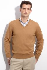 Faconnable V-neck Merino Wool Sweater - Lyst