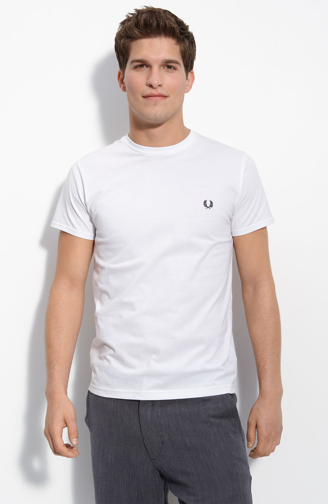 Fred Perry Basic Crew Neck T Shirt White in White for Men ...
