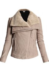 Helmut Lang Leather and Shearling Jacket - Lyst