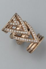 House Of Harlow Chevron Ring - Lyst