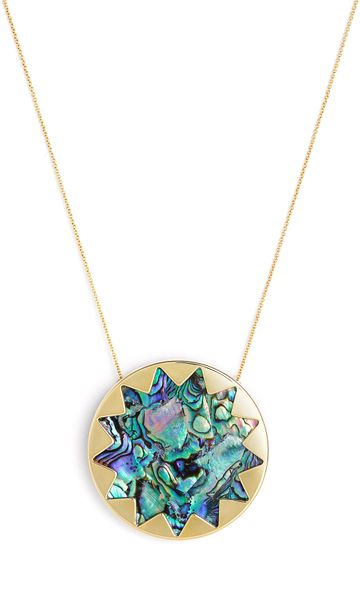 House Of Harlow  Sunburst Pendant Necklace  in Gold (multi) - Lyst