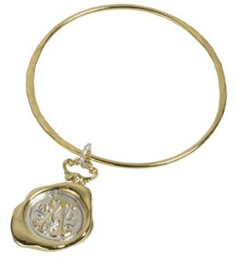 Jessica De Lotz Jewellery Personalised Hand Stamped Wax Seal Bangle. - Lyst