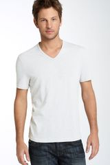 John Varvatos Trim Fit Slubbed V-neck T-shirt (men) - Lyst