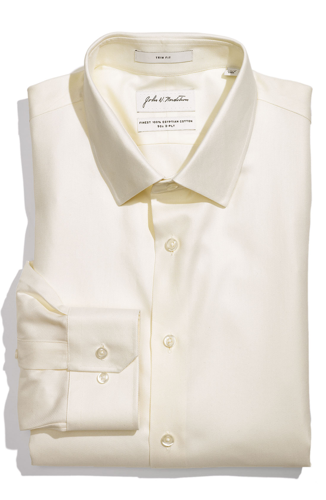 John w nordstrom trim fit egyptian cotton dress shirt in for Mens egyptian cotton dress shirts
