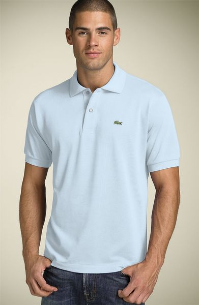 Lacoste Piqué Polo in Blue for Men (light blue) - Lyst
