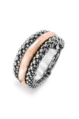Lagos Caviar™ 2tone Ring (nordstrom Exclusive) in Silver (silver/ rose gold) - Lyst