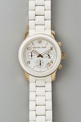 Michael Kors Jet Set Watch in White - Lyst