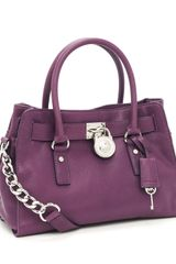 Michael by Michael Kors Hamilton Wide Satchel, Purple - Lyst