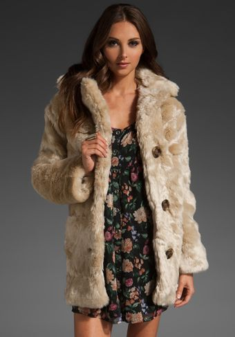 Mink Pink Double Agent Fur Coat - Lyst