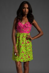 Nanette Lepore Girls Only Dress in Lime/turquoise - Lyst