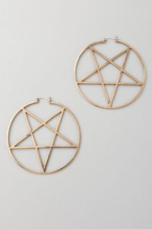 Pamela Love Small Pentagram Earrings - Lyst