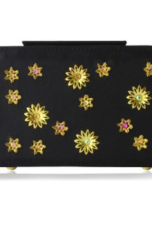 Poupee Couture Gold Flower Box Clutch  - Lyst
