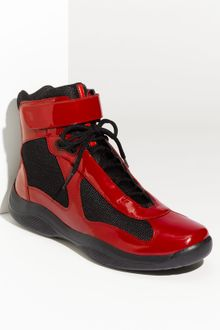 Prada Americas Cup High Top Sneaker (men) - Lyst