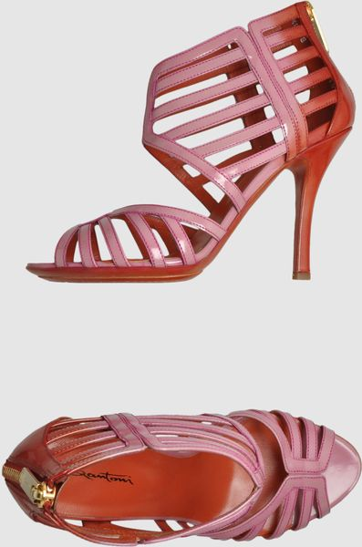 Santoni High Heeled Sandals in Pink - Lyst