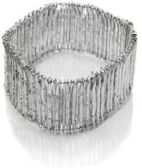 Sikara & Co. Thick Step Ladder Bracelet in Silver - Lyst