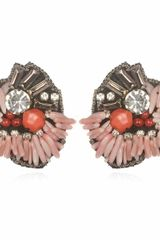 Suzanna Dai Coral Malé Button Earrings - Lyst