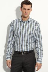 Thomas Dean Stripe Sport Shirt - Lyst