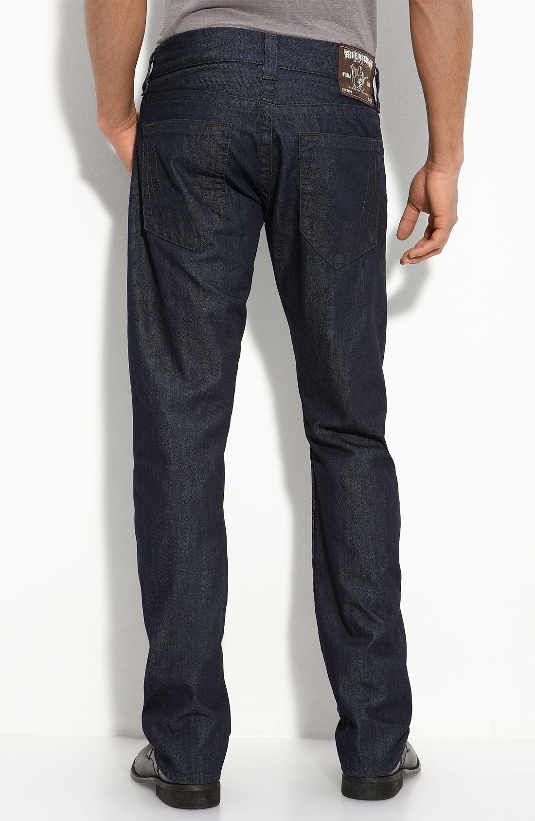 true religion bobby straight leg jeans bodyrinse wash in. Black Bedroom Furniture Sets. Home Design Ideas