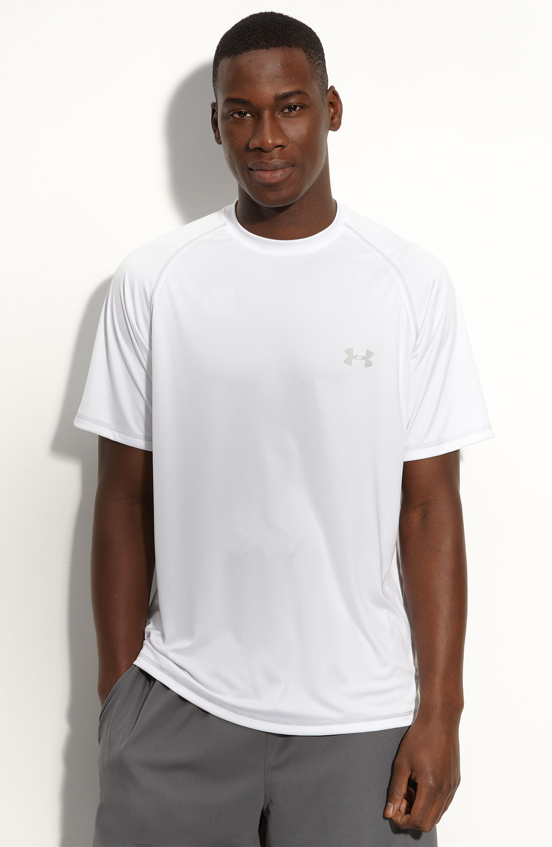 Under armour 4 bottle heatgear uv protection t shirt in for Under armour heatgear white shirt