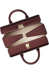 Victoria Beckham Victoria Structured Leather Tote in Brown (merlot) - Lyst