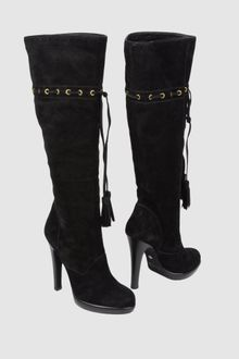 Yves Saint Laurent Rive Gauche High Heeled Boots - Lyst