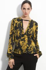 A.L.C. Addie Printed Silk Blouse