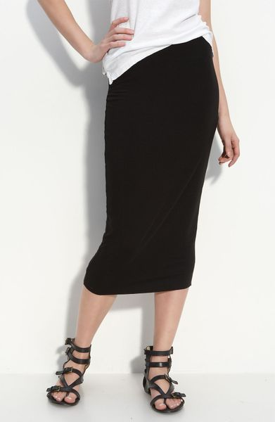 Bailey 44 Knit Midi Skirt In Black Lyst
