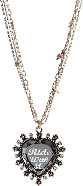 Betsey Johnson Lady Luck Heart Pendant Necklace - Lyst