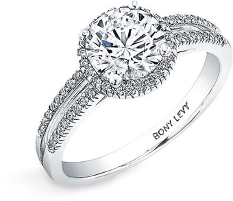 Bony Levy Bridal Pavé Diamond Setting Semi Mount Ring (Nordstrom Exclusive) - Lyst