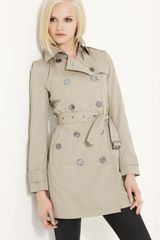 Burberry Brit Double Breasted Trench - Lyst