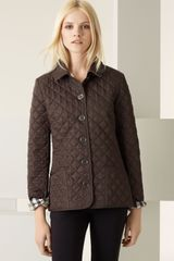 Burberry Brit Diamond Quilted Jacket - Lyst