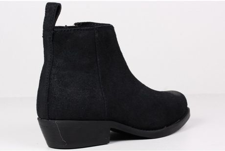 cheap monday spur suede ankle boot in black for lyst