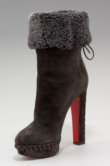 Christian Louboutin Step N Roll Suede Boot - Lyst