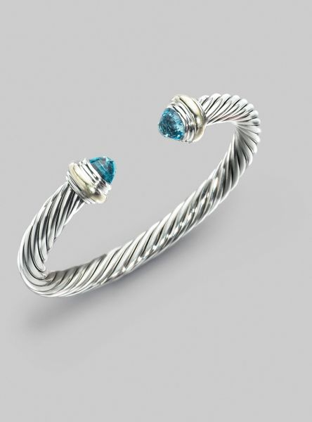 david yurman blue topaz sterling silver 14k yellow gold