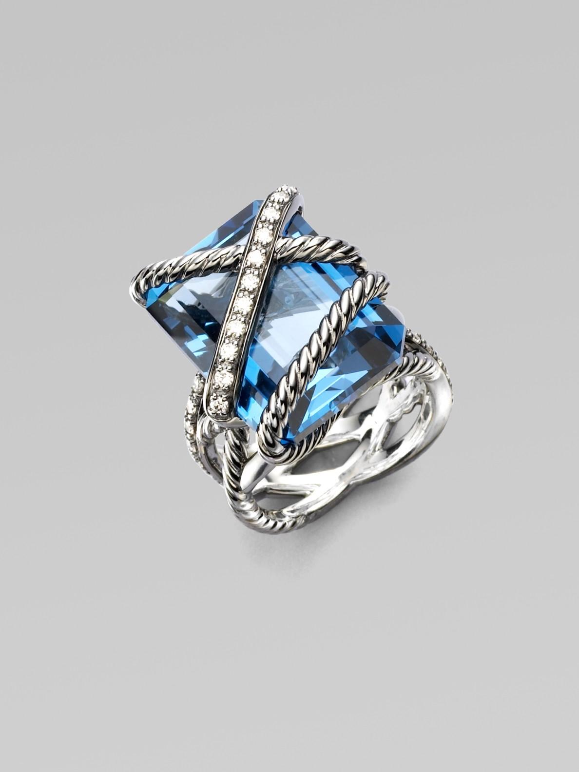 Blue John Diamond Ring