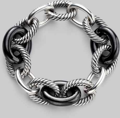 David Yurman Sterling Silver Link Bracelet in Silver - Lyst