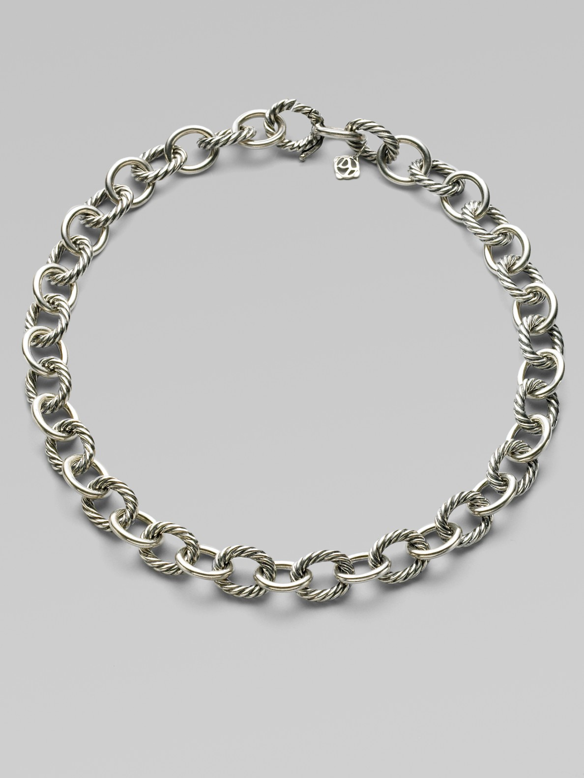 david yurman sterling silver oval link chain necklace in. Black Bedroom Furniture Sets. Home Design Ideas