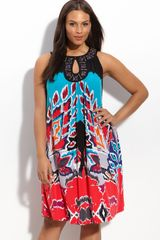 Eci Beaded Trapeze Dress (plus) - Lyst