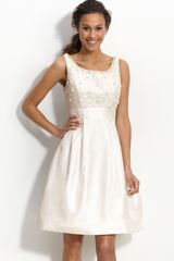 Eliza J Beaded & Embroidered Shantung Dress - Lyst