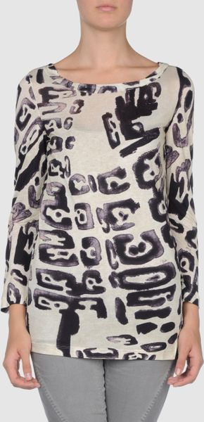 Emilio Pucci Long Sleeve T Shirts in Multicolor (ivory) - Lyst